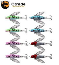 8 x Metal Fishing Vibe Lure Buzz Baits Bass Trout Bream Flathead Whiting Lures