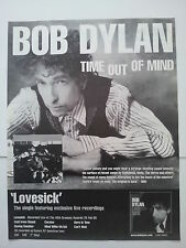 BOB DYLAN Time Out Of Mind 1997 UK Poster size Press ADVERT 16x12 inches