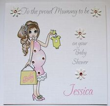 Personalised Baby Shower Card Female Mummy to be