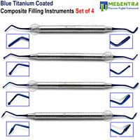 Dental Restorations Restorative Composite Instruments Set of 4 Titanium Coated