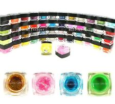 50 Colour New Authentic UV Gel Nail Art Glitter Solid Pure Transparent Set