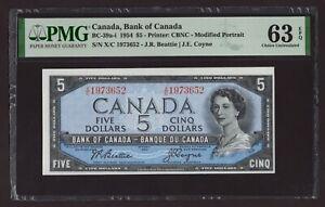 Canada 🇨🇦 1954 - $5 Modified Portrait - Beatie/Coyne - PMG Choice UNC 63 EPQ