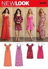 New Look Ladies Sewing Pattern 6096 Maxi & Knee Length Dresses (NewLook-6...