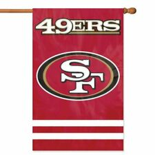 SAN FRANCISCO 49ERS House Banner Flag PREMIUM Outdoor DOUBLE SIDED Embroidered
