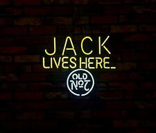 """JACK LIVES HERE"" Bar Pub Neon SIgn Light Man Cave Vintage Patio Bistro Club"
