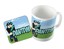 DANTDM THE DIAMOND MINECART MUG & COASTER SET YOUTUBE GAMER GAMING NOVELTY