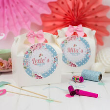 PERSONALISED HEN PARTY BOX VINTAGE FLORAL - WEDDING BIRTHDAY GIFT BAG FAVOUR