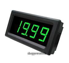 Green LED Digital Voltmeter,12V DC Battery Monitor Panel Meter Power 6-15V