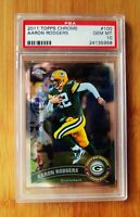 2011 Topps Chrome #100 AARON ROGERS - PSA 10 GEM MINT