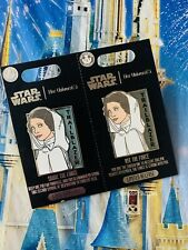 Disney Star Wars Her Universe Share & Use The Force Two Pin Set Princess Leia