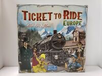 EUC  DAYS OF WONDER TICKET TO RIDE EUROPE BOARD GAME 7202 COMPLETE