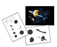 Step by Step Airbrush Stencil AS-138 M ~ Template ~ UMR-Design