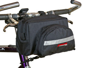 Bicycle Handlebar Bag Cycling Front Pack Bike Bag Rear Frame Accessories Black