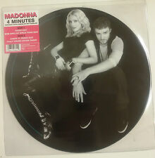 """Madonna 4 Minutes Maxisingle 12"""" UK 2008 Fotodisco color en funda de PVC+sticker"""