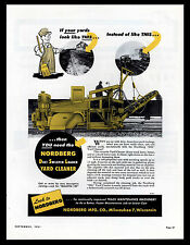 "ORIGINAL 1951 ""NORDBERG"" RAILROAD TRACK CLEANER MILWAUKEE, WISCONSIN PRINT AD"