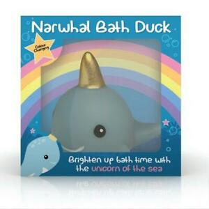 Light Up Floating Narwhal Bath Duck Colour Changing Mood Light