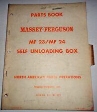 Massey Ferguson MF 23 24 self Unloading Box Wagon Parts Catalog Manual Original!