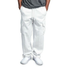 Men's Casual Straight Trousers Work Pants Multi Pockets Sports Gym Sweatpants