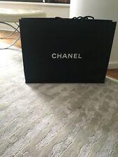 Chanel Logo Empty White Black Shopping Gift Paper Bag Extra Large