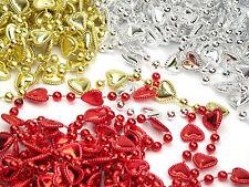 9 YARDS of Metallic Heart Pearl Garland for Xmas Valentines Wedding
