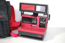 Polaroid Cool Cam Red Black Instant 600 Film Camera Film Tested Works See Prints