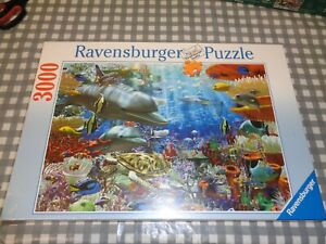 ravensburger 3000 pcs jigsaw puzzle oceans and dolphen sea life new