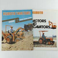 Kubota Tractors Sales Brochures B Series and Tractor/Excavators Lot of 2 Farm