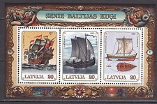 LATVIA 1997**MNH SC# 444  S/S  Old Baltic Ships