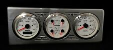 1940 CHEVY CAR 3 GAUGE GPS DASH PANEL CLUSTER WHITE