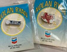 VINTAGE NOLAN RYAN SIX NO HITTERS TEXAS RANGERS RYAN EXPRESS MLB BASEBALL PIN