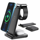3in1Qi For Air Pods Watch iPhone Cell Phone Station Charging Dock Charger Stand