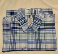 Brooks Brothers Men's - Madison XL Blue Striped L/S Button Front Casual Shirt