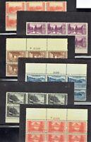 1934 U.S. National Parks COMPLETE SET  Plt # Blks Sc# 740-9 Mint/NH/OG  **