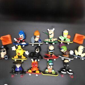 Lot of TECH DECK Mini Figures & Skateboards - 13 Skateboards, 14 Dudes - Vintage