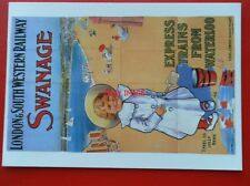 POSTCARD  ADVERTISING - LSWR SWANAGE EXPRESS TRAINS FROM WATERLOO