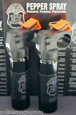 2 Police Magnum Pepper Spray 4 ounce Fire Master Fogger Self Defense Protection