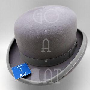 VINTAGE Wool Felt Dura Bowler Top Hat Men Women Derby   Gray   Size 52 57 59 61