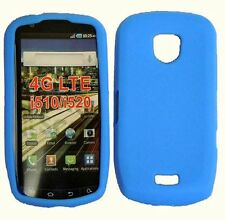 Samsung Droid Charge Rubber Silicone Soft Gel SKIN Case Phone Cover Light Blue