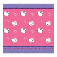 Hello Kitty Kitty & Me Fabric Shower Curtain,72in x 72in , Pink