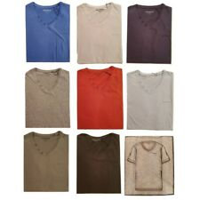 Tee shirt homme Old River 100% coton  col v à boutons
