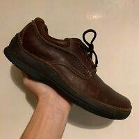 Men's Clarks Active Air Gore-Tex Brown Leather Lace Up Shoes Size UK 7