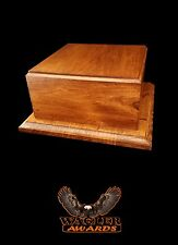 "NEW Wagler Awards Wood Trophy Base Award 10""x10""x4.75"" in Cherry Color Stain"