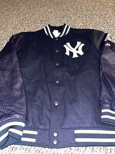 Majestic New York Yankees MLB Dugout Vintage Bomber Varsity Jacket Size 2XL