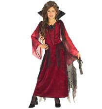New Girls Gothic Vampire Kids Costume Halloween Size Small 4-6