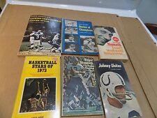 Lot of 6 Vintage Paperbacks - Sports Heroes - Boxing, Baseball -Namath Staubach