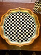 Mackenzie Childs Large Vintage Wood Serving Tray Courtly Check Table Top New w/t