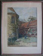 ::MISCHTECHNIK Dom in Hildesheim mit dem tausendjährigen Rosenstock 1897  selten
