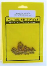 "Model Shipways Fittings MS 0351 Walnut Stanchions 5/16"" (8MM). 20 Per Pack."