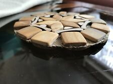 Coaster Tea Coffee Cup Mat Pad Natural Wood Hand made Table Decor Tableware 12cm