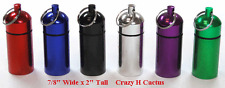 "6 LARGER  Bison Cache Containers Geocache ASSTD COLOR Holds MORE STUFF!  2"" Tall"